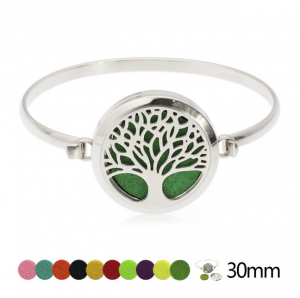 Stainless Steel Essential Oil Diffuser Bracelet Aromatherapy Bangle