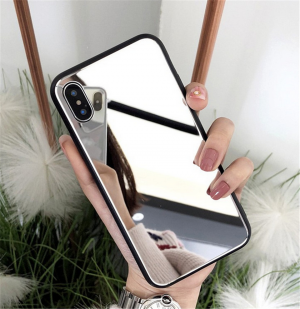 Mobile Phone Cover Mirror Protection Case For iPhone