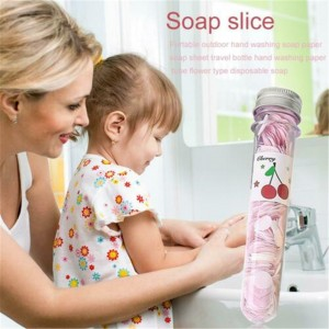 Portable Travel Scented Bath Soap Cute Hand Wash Paper Soap Test Tube