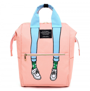 Trendy Canvas Large Fashion Backpack Storage School Bag