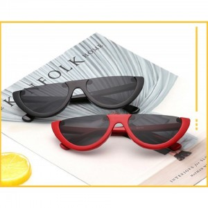 FASHION TRIANGLE HALF FRAME SUNGLASSES