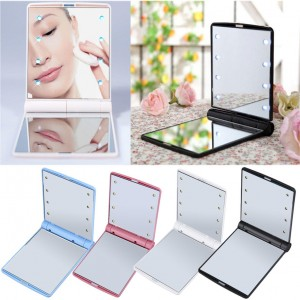 Foldable Led Mirror 8 LED Light