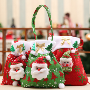Christmas Gift Handbag Drawstring Bag Home Party Decor