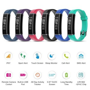 ID130 Smart Bracelet Fitness Tracker
