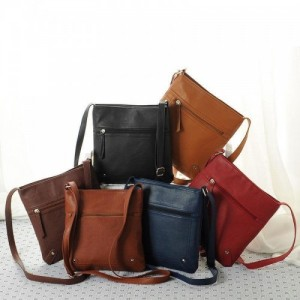 PU Leather Satchel Cross Body Bag
