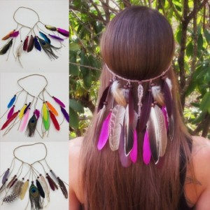 PEAHEN FEATHER HAIR BAND