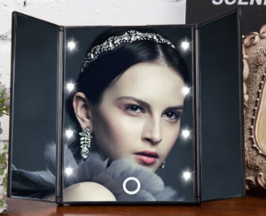 LED Lighted Touch Screen Makeup Mirror