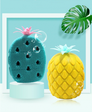 Pineapple Shaped Silicone Body Massage Brush