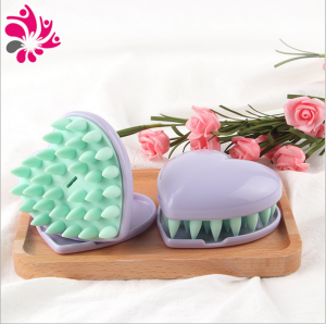 Heart Shaped Silicone Shampoo Scalp Brush