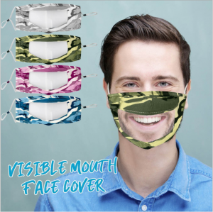 Camo Transparent Face Cover