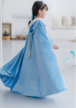 Girl's Keep Warm And Dust-Proof Cloak