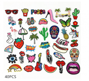28/32/40/42pcs DIY Sew Iron On Patch Badge