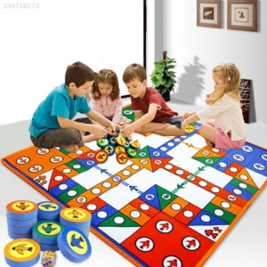 Large Family Outdoor Ludo Play Mat Kids Chess Floor Carpet Board Game