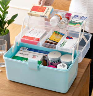 Portable 3-Layer Household Cabinet