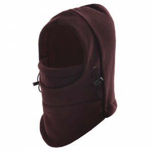 Unisex Winter Warm Fleece Hooded Face Mask Neck Hat