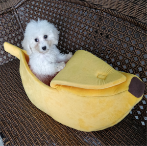 Pet Sleep Bed Cute Banana Shape For Dog Cat Squirrel