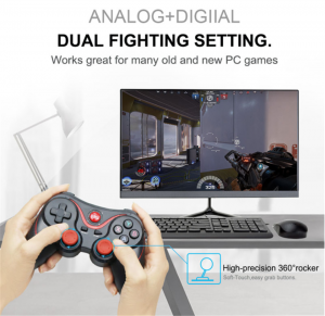 T3 X3 PS3 Game Controller Wireless Bluetooth For Mobile Phone Computer