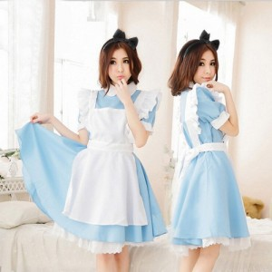 WONDERLAND ANIME MAID COSPLAY COSTUME