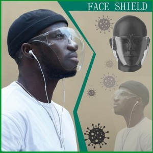 Transparent Isolation Protective Face Cover
