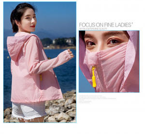 Women Sunscreen Jacket With Face Mask