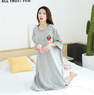 Summer Girls Sleepwear Large Comfortable Pyjamas Striped Nightwear
