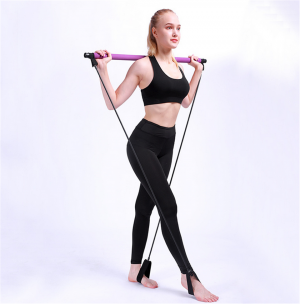 Elastic Home Gym Stick Yoga Pilates Bar Fitness Equipment Trainer