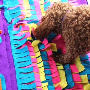 Pet Dog Sniffing Mat Find Food Training Blanket Puzzle Play Toys
