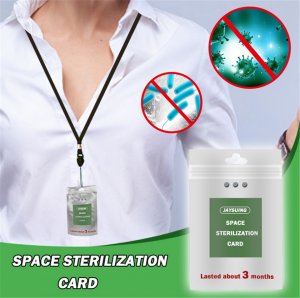 Portable Disinfect Card Space Sterilization Card With Hanging Rope